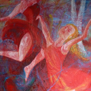 Frühlingserwachen, Acryl auf Leinwand, 80 x 100