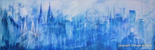Stadtansichten, Acryl auf Leinwand, 120 x 40