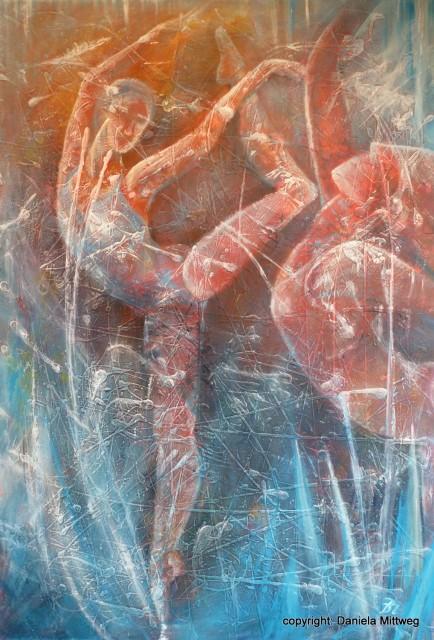 Eisblumen, 70 x 100, Acryl auf Leinwand