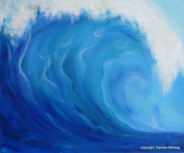 Wellen, Acryl auf Leinwand, 60 x 50
