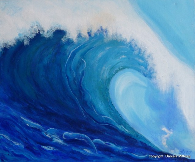 Wellenbrecher, Acryl auf Leinwand, 60 x 50