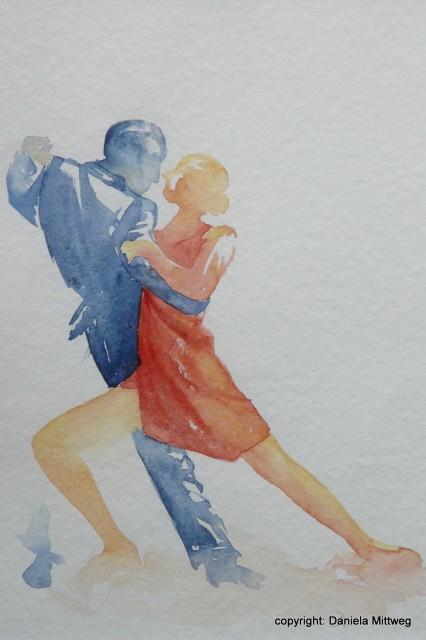 Tango 2, Aquarell auf Papier, 24 x 32