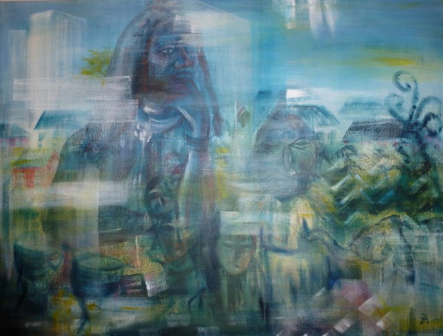 reflektion, Acryl auf Leinwand, 80 x 60